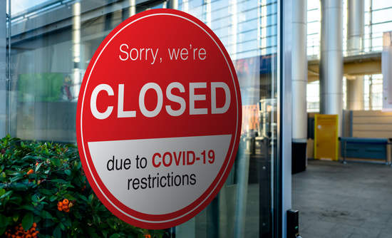 """Google My Business and COVID-19 signage that means """"optimising gmb during covid-19""""."""