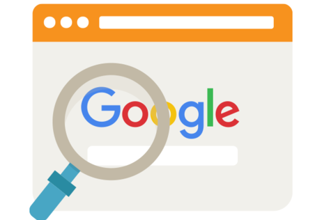 Google page with the magnifying glass as the featured image of