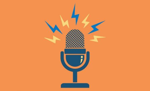 Animated podcast logo as the featured image of