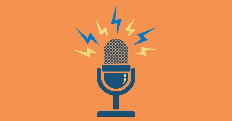 "Animated podcast logo that means ""seo value from podcast transcripts""."