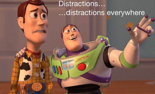 Buzz and Woody about distraction as the featured image of